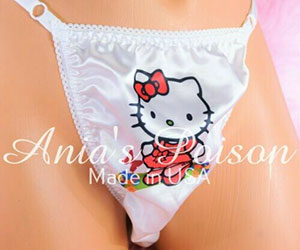 Hello Kitty Sissy Adjustable Thongs!